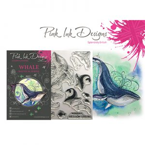 Pink ink designs stempel Whale PI020