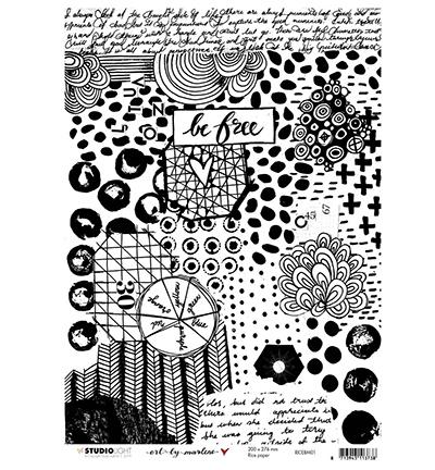 Rice Paper Sheet Art by Marlene 4.0 RICEBM01