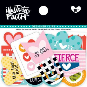 Illustrated Faith Hearts Designer Clips 815462021667
