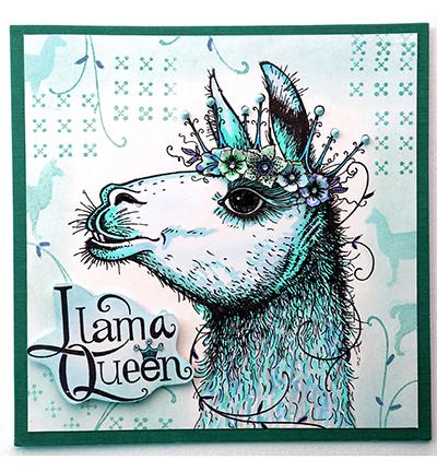 Pink Ink Designs Stempelset LLama Queen PI013