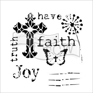 Tcw bible Journaling stencil Have Faith TCW701S