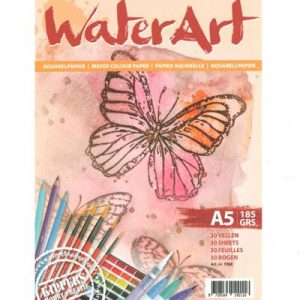WaterArt Aquarelpapier a5 185 GRS 30 Vellen 1068